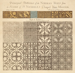 Principal Patterns of the Norman Tiles from the Floor of St. Nicholas Chapel York Minster